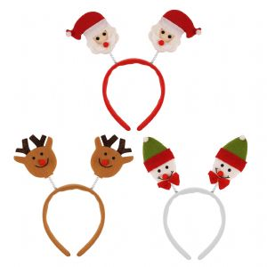 Santa, Reindeer & Snowman - Assorted Christmas Head Boppers - Set of 3